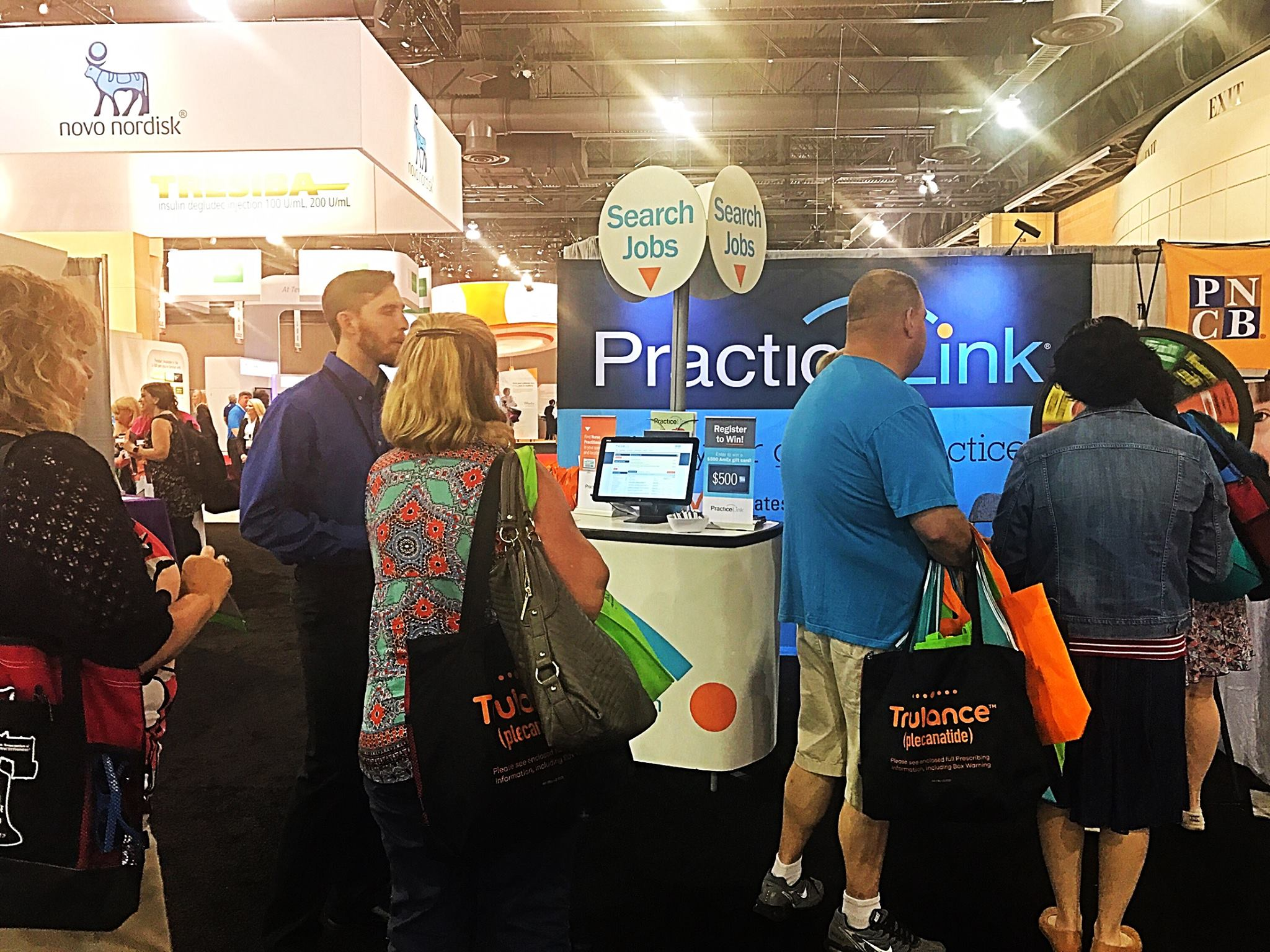 PracticeLink exhibits at physician specialty meetings